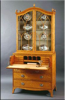 secretaire, George III style furniture