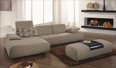 L Shaped Sofa- extra puff maybe used as coffee table or puff when ppl are over