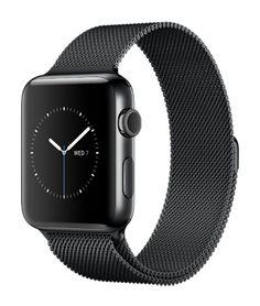 Apple Watch Series 2 Space Black Stainless Steel Case with Space Black Milanese Loop