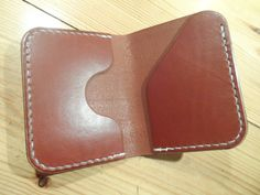 Leather wallet, handmade, hand stitched. (FREE UK SHIPPING) by…