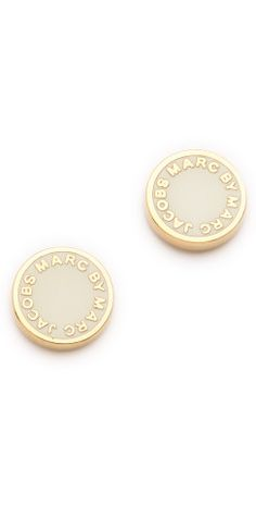 Marc by Marc Jacobs Logo Disc Stud Earrings | @Courtney Oliver so I can get these and we'll be like twins and wear our candy everywhere