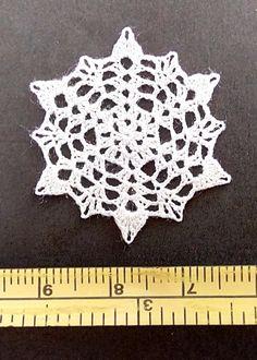 dollhouse miniature small silk crochet doily, table cover, IGMA artisan   eBay