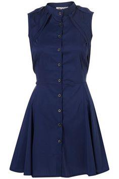 PLEAT SHIRT DRESS BY WAL G**