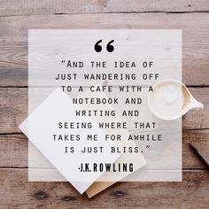 #Quote #Coffee #Writing #JKRowling