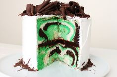 Gourmet Mint Chocolate Layer Cake for St. Patrick's Day