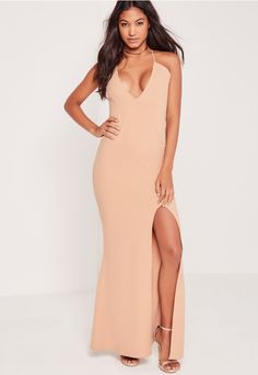 You'll be looking strap-tastic in this lush maxi dress. Perfect for that upcoming par-tay or event, you'll be slaying right the way through! Designed in a full length to up the elegance level and have you looking like a chic diva. The plung...
