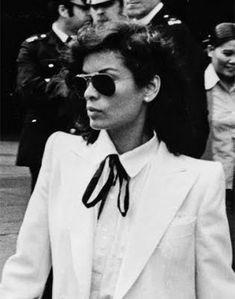 // Bianca-Jagger. YSL Tuxedo