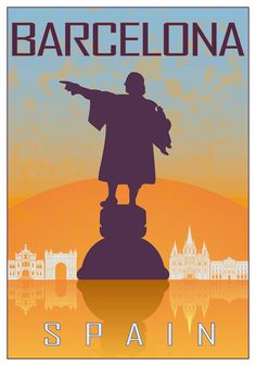 City poster cartel de cuidad Barcelona print city por Chachaprints