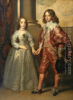 William II, Prince of Orange and Princess Henrietta Mary Stuart, daughter of Charles I of England by Sir Anthony Van Dyck