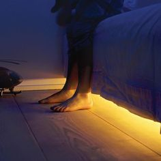 The Under Bed Night Lights - Hammacher Schlemmer/  Can use under baby's crib or in bathroom under kick plate for cabinets.