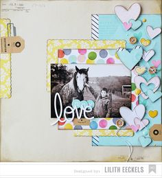 #papercraft #scrapbook #layout Lilith's scrapbooking venture