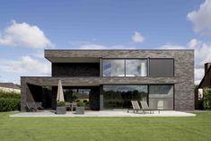 Modern House Facades, Modern House Plans, Arch House, Facade House, Minimalist House Design, Modern House Design, Home Building Design, Building A House, Casa Loft