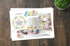 Easter Mini Session Template-V01 by retrographix on @creativemarket Flyer Design Templates, Flyer Template, New Flyer, Photo Folder, Text Tool, Print Release, Photography Marketing, Photoshop Elements, The Help