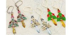 Darling beaded tree earrings or charms! Free pattern