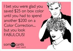 Yup, don't miss those days in the hairsalon!! Used to fix a lot of hair color disasters! Lol