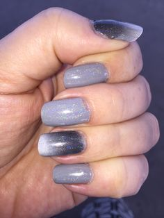 Grey gradient with holo
