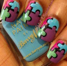Puzzle piece manicure