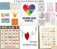 hearts and love printable freebies for project life project365