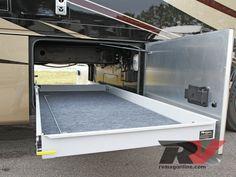2012 Phaeton 40 Qbh Tiffin Motorhome Overview Cargo Storage Tray