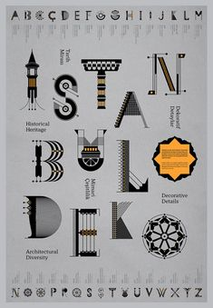 Istanbul Deko is a Turkish graphic design project created by Geray Gencer.