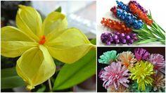 Papírové květiny / jarní a letní dekorace do pokoje