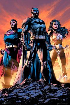 Poster DC COMICS - Justice League Trio - http://rockagogo.com