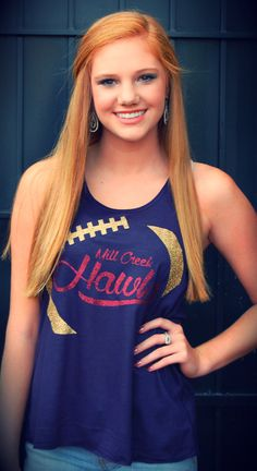 Custom personalized football flowy racerback tank mom's team name Game Day Chic Clothing https://www.etsy.com/listing/196176519/college-pro-or-customizablepersonalized