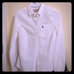 White Button Down - Very professional 100% cotton white button down blouse from Jack Wills. Freshly dry cleaned, practically brand new. Jack Wills Tops Button Down Shirts