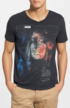 Free shipping and returns on SCOTT FREE 'Wish You Were Here' Graphic V-Neck T-Shirt at Nordstrom.com. A slim, American-made cotton T-shirt features a stylized graphic that blends a galactic print with an eye-catching head shot of a beautiful woman. Known for quality, comfort and design, each Scott Free garment is made using innovative techniques that result in distinct coloring and textures.