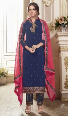 Ethnic Gown Georgette Dress Materials from Ethnic Gown, Indian Ethnic Wear, Indian Dresses, Indian Outfits, Pakistani Suits, Salwar Suits, Salwar Kameez Online, Georgette Fabric, Wholesale Clothing