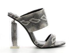 32bbfa0ba0e Details about New Black Slide Mule Perspex Block High Heel Open Toe Womens  Shoes Dress Sandals