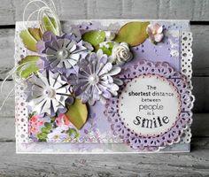 Craft and You Design: A card with homemade flowers/Kartka z własnoręczni...