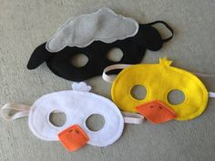 This Spring / Farm animal mask set has been asked for by many customers and has finally arrived! These masks are soft, comfortable, and encourage imaginations to run wild! There is approx 13.5 of elastic to hold them in place (never allow children to play with masks unless an adult is present). These masks are perfect for theater, pretend play, party favors, wearing to the zoo, or even stocking stuffers/Easter basket fillers or as a gift. Colors and shapes may vary slightly. Due to the…