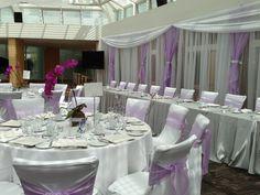 purple wedding recpetion