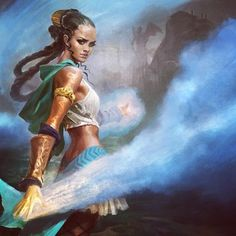 I& going to be a guest artist at the Magic: The Gathering Grand Prix 2014 this weekend in Sacramento, CA - January There will be a limited edition playmat of this painting I did for the card & and I& be signing and selling prints and other merch! Fantasy Story, High Fantasy, Fantasy Women, Fantasy Rpg, Medieval Fantasy, Character Creation, Character Art, Character Design, Character Ideas