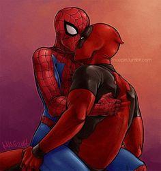 Marvel - Wade Wilson x Peter Parker - Spideypool