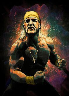 Hulk Hogan is WWE he made Wresting what it is today. Wwe Lucha, Wrestling Posters, Wrestling Wwe, Wwe Hulk Hogan, Wwe The Rock, Eden Design, Eddie Guerrero, Star Character, Wrestling Superstars