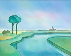 Zomer in Waasland door Toon Tieland City Folk, Dutch Painters, Folk Art, Art Prints, Paintings, Beautiful, Artists, Sweet, Color