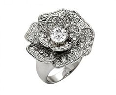 So special! #Diamond #Flower #Style #Ring