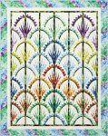 Clamshell Quilt Kit in Timeless-Treasures-Judy-Niemeyer-Wildflowers