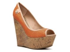 Not sure I could walk in them - but I want them. G BY GUESS Tinaa Wedge Pump