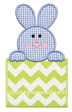 Bunny Patch 4 Applique Design