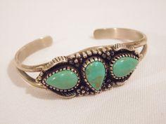 Vintage Southwest Sterling Silver 925 Turquoise Cuff Bracelet on Etsy, $49.99 Sold!!!!!!!!!!!!!!!!!!