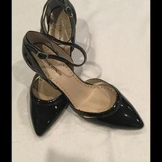 Adrienne Vittedini black patent heels, size 9. Adrienne Vittedini black patent leather pumps with ankle straps.  Size 9, brand new. Adrienne Vittadini Shoes Heels