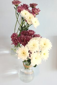 Decorating with plants - hanging vases with flowers