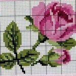 Kanaviçe (Etamin) Çiçek Deseni Şablonları