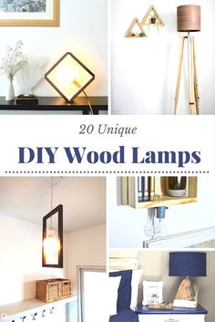Wood lamps are classic and modern at the same time! Learn how to make a wood lamp that fits perfectly with your decor using one of these 20 ideas.
