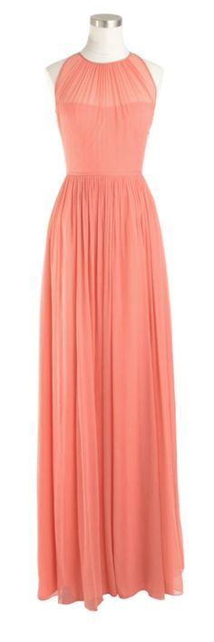 coral maxi - love the sheer top! would look great with a gold belt.