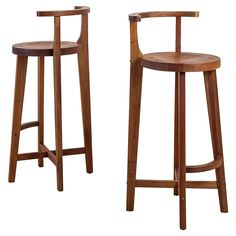 Kitchen Stools With Backs Small Rugs Breathtaking Wooden Counter Stool Wicker Rope Seats Also Pair Studio Crafted Bar Rounded Back Rests 1stdibs Com