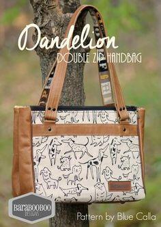 The Dandelion Double Zip Handbag - PDF Sewing Pattern – Blue Calla Patterns Handbag Patterns, Bag Patterns To Sew, Pdf Sewing Patterns, Small Handbags, Purses And Handbags, 5 W, Simple Bags, Sewing Basics, Zipper Bags